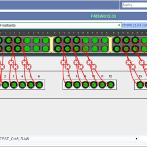 Erstellen von Verbindungen zwischen einem Switch und einem Patchpanel